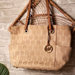Michael Kors Signature Jet Set Tote Bag/ Purse